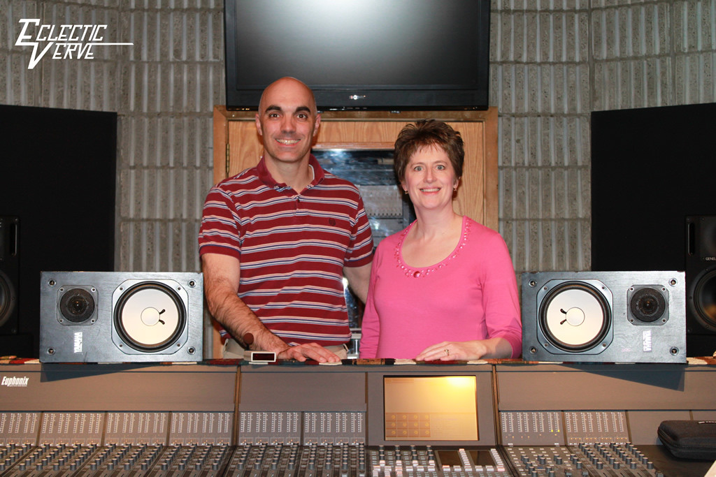 Kent and Cindy Behind Console at Colorado Sound Studios